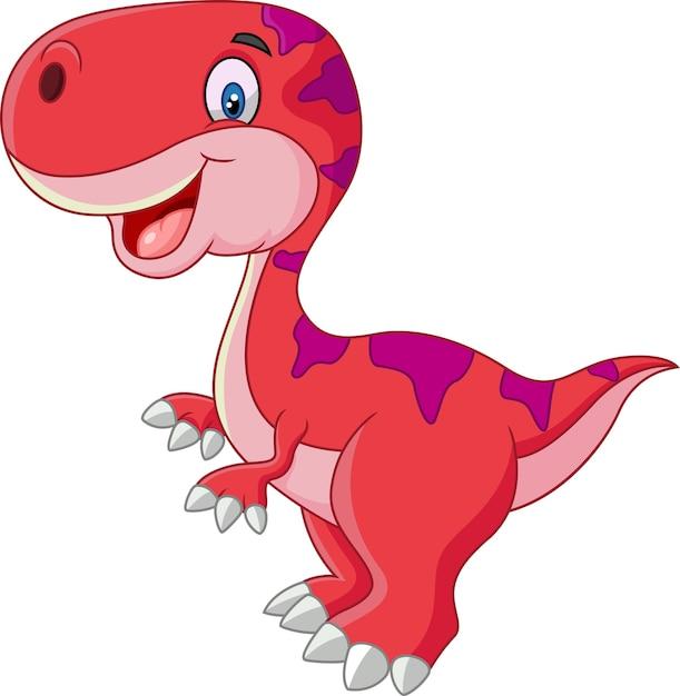 Cute dinosaur cartoon | Premium Vector