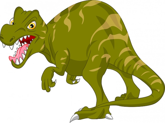 Cute dinosaur cartoon Premium Vector