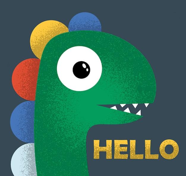 Cute dinosaur Premium Vector
