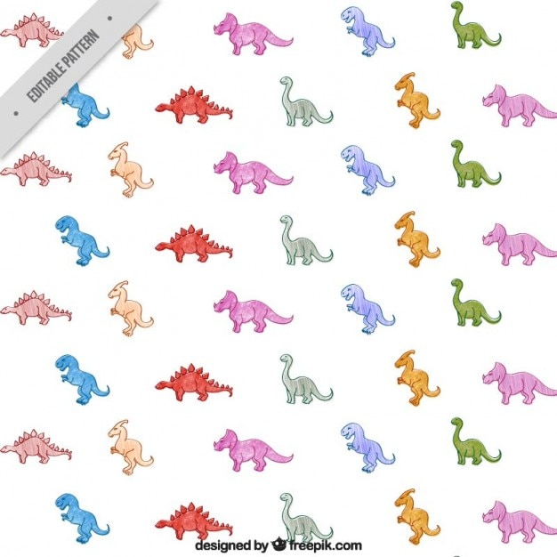 cute dinosaurs pattern vector free download