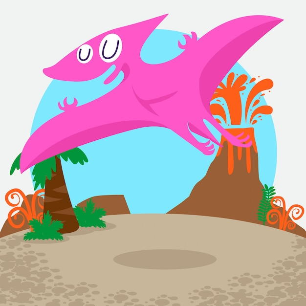Cute dinosaurs vector set Premium Vector