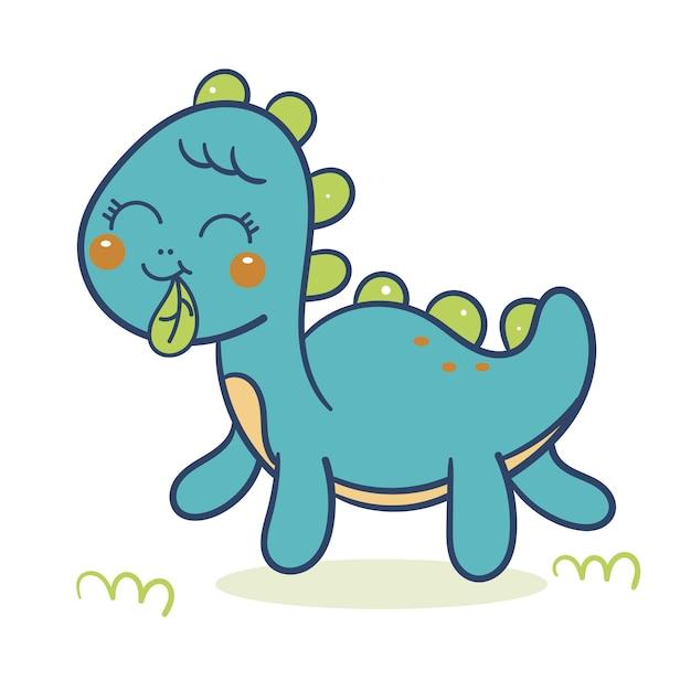 Cute dinosaurs vector Premium Vector