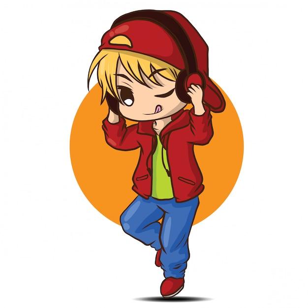 Disc jockey Cartoon, DJ boy, reading, boy png | PNGEgg