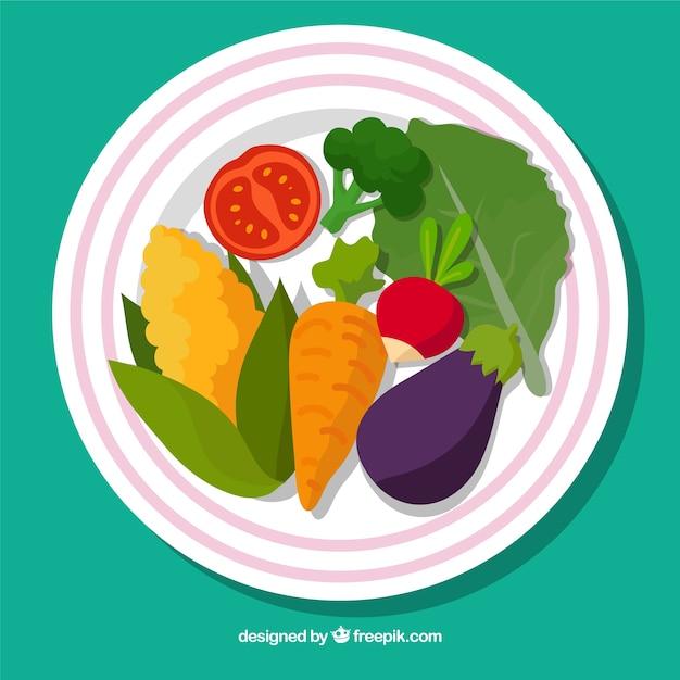 Cute dish vegetarian food