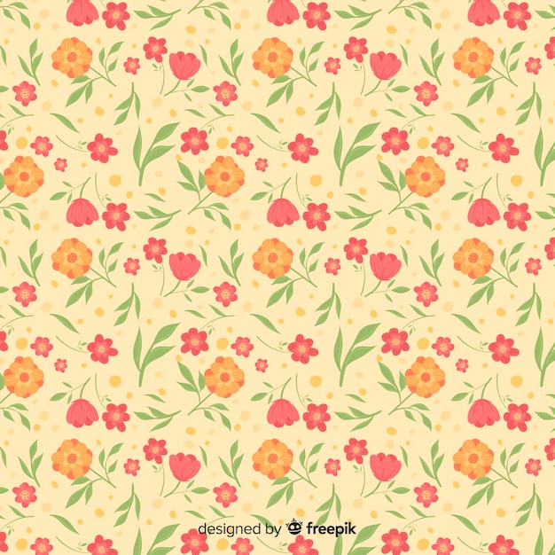 Cute ditsy floral background Free Vector