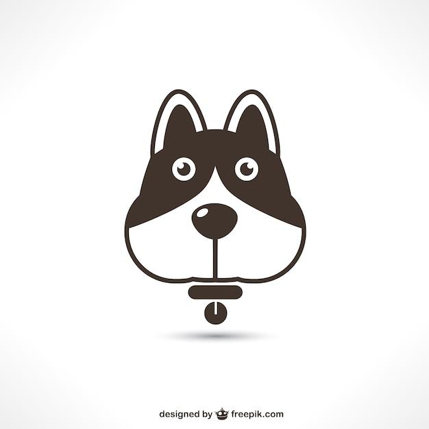 Cute dog icon Free Vector