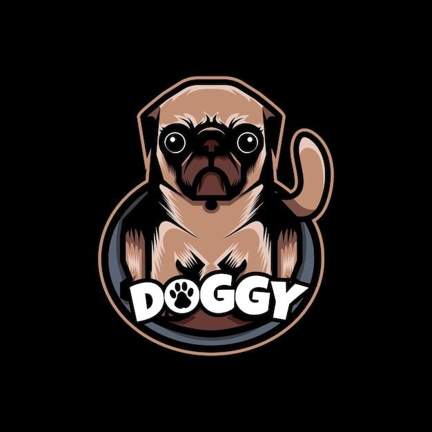 귀여운 강아지 로고 프리미엄 벡터