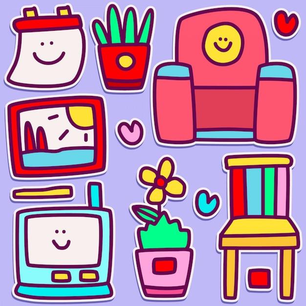 Cute doodle design illustration Premium Vector