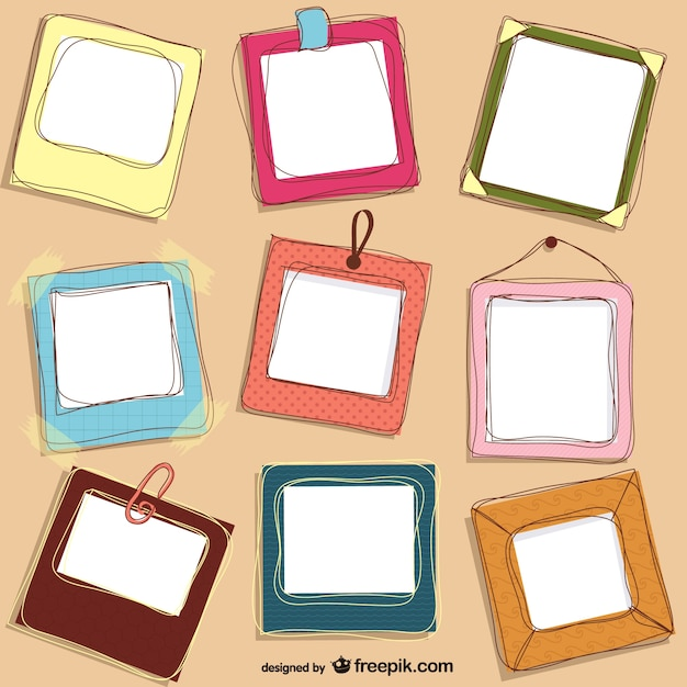Cute doodle frames design vector free download Blueprint designer free
