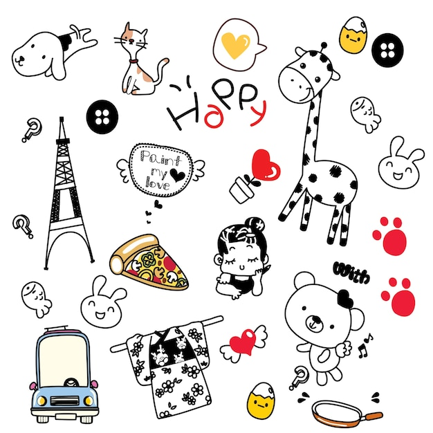 doodles cute vector stuff premium copy