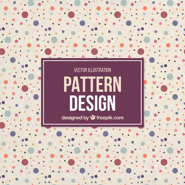Cute dots pattern Free Vector