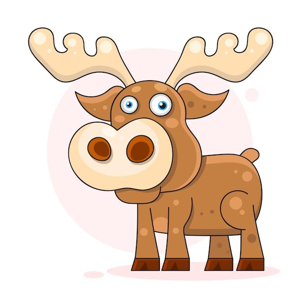 Cute, dreaming baby, deer Premium Vector