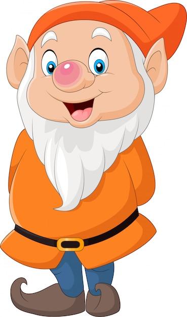 Cute dwarf cartoon Premium Vector
