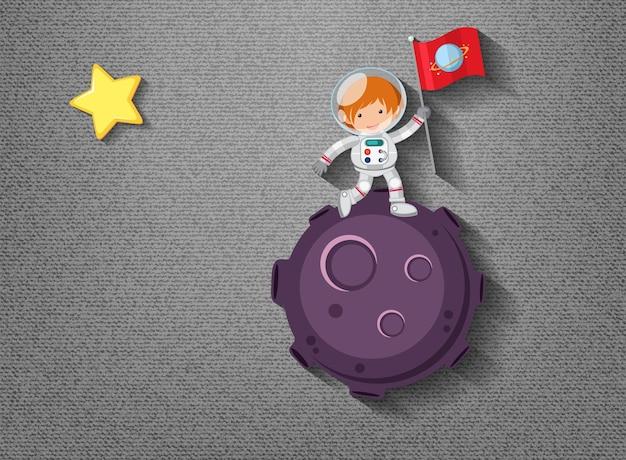 Cute element on space theme Premium Vector