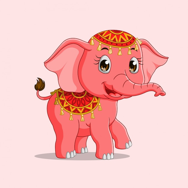 Cute elephant cartoon Premium Vector
