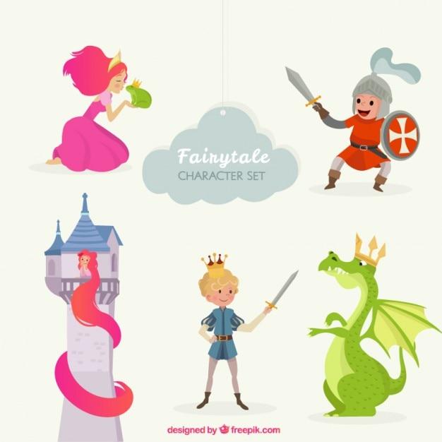 Cute Fairy Tale Characters Vector