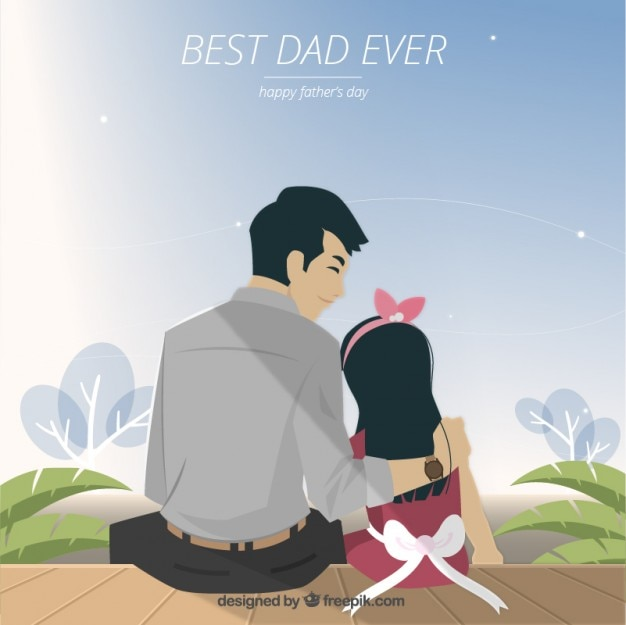 Cute father\'s day illustration
