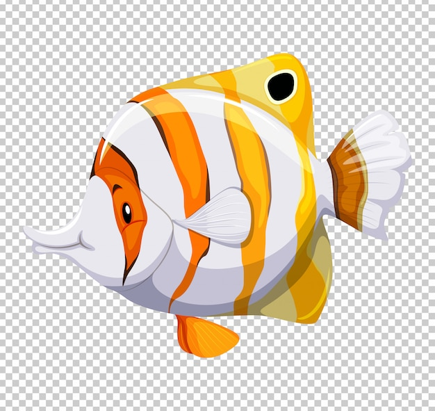 Cute fish on transparent Free Vector