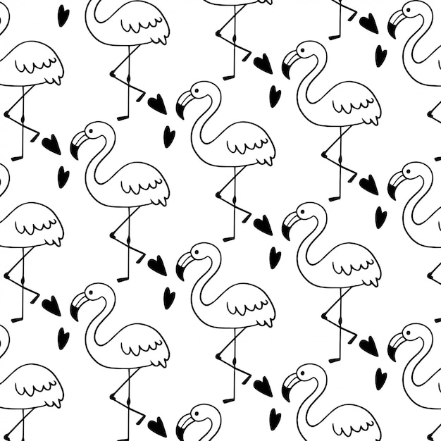 картинки фламинго для распечатки черно белые фон установления советской
