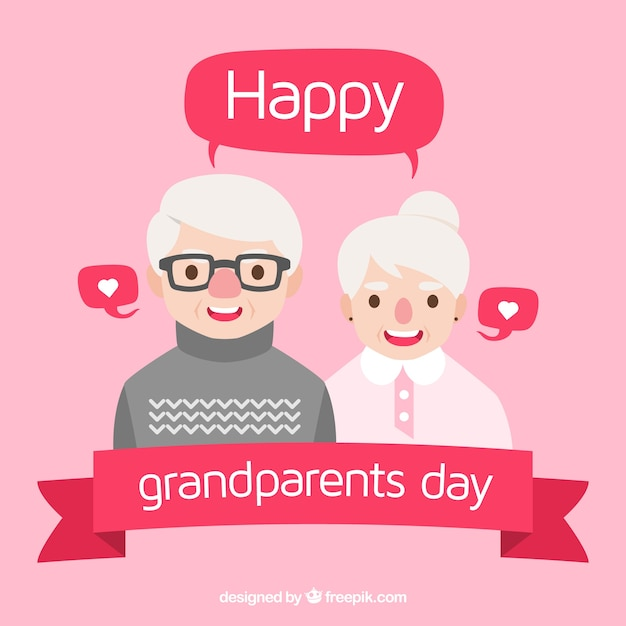 Cute flat grandparents day design
