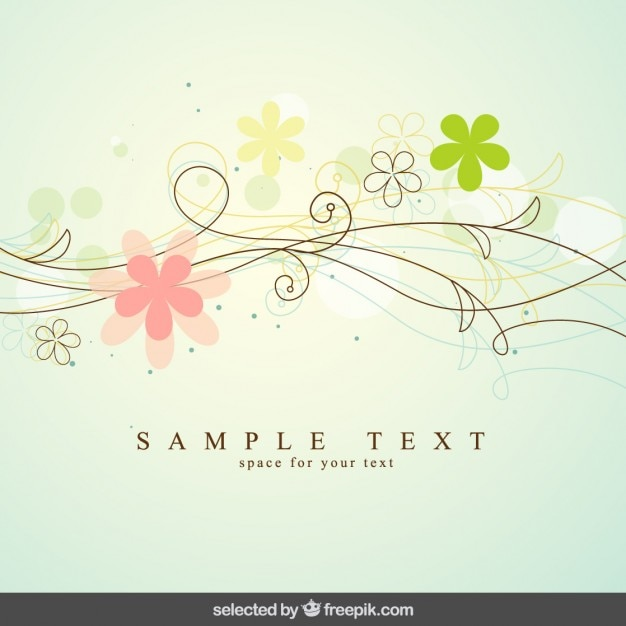 Cute floral background Free Vector