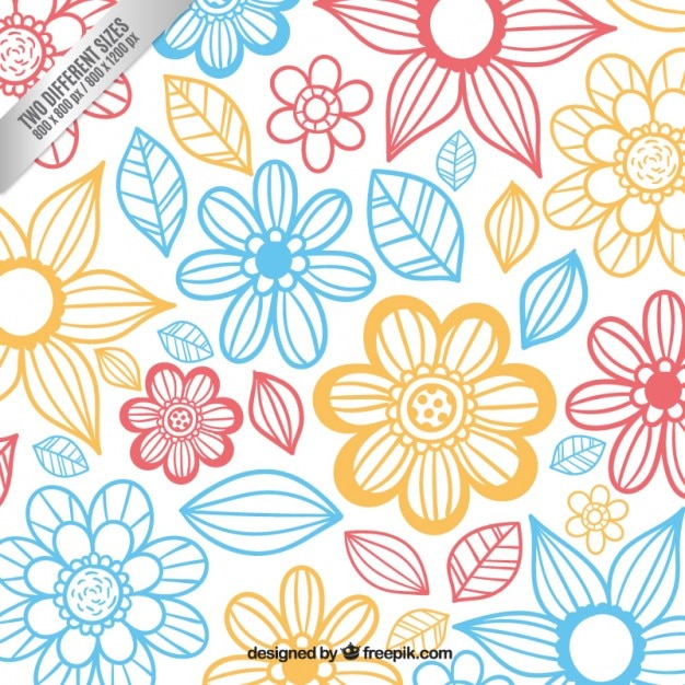 Cute floral background Vector | Free Download