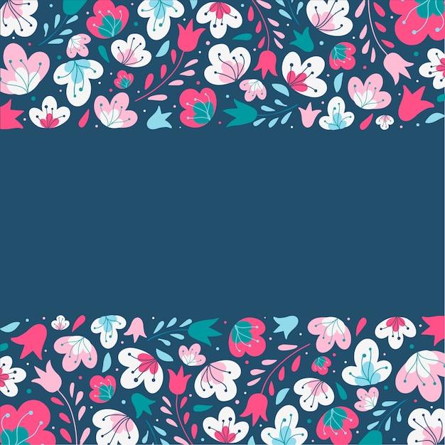Cute floral frame Premium Vector