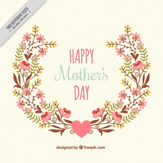 Cute floral mother\'s day background