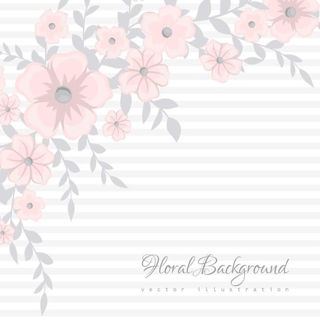 小さな花とかわいい花柄 Premiumベクター