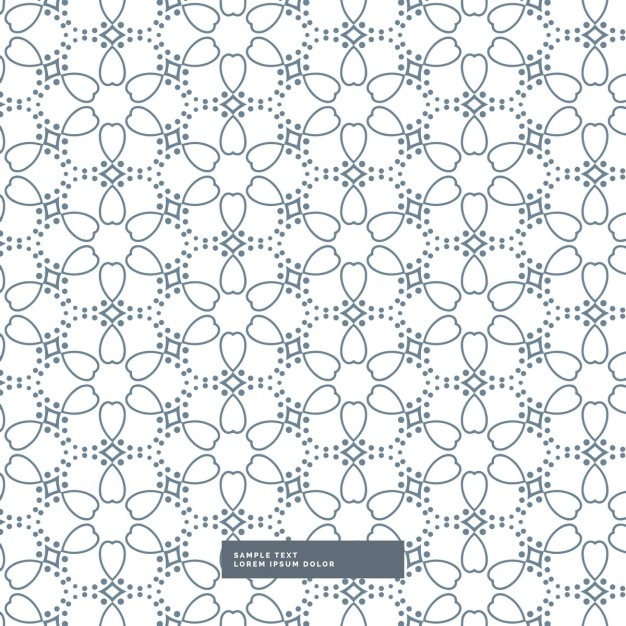 Cute Flower Pattern On White Background Vector