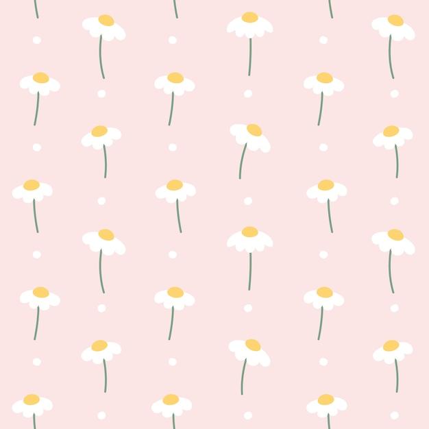 Симпатичный цветок бесшовный фон Premium векторы