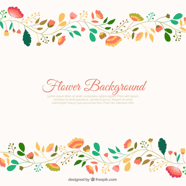 cute flowers background vector  free download, Beautiful flower