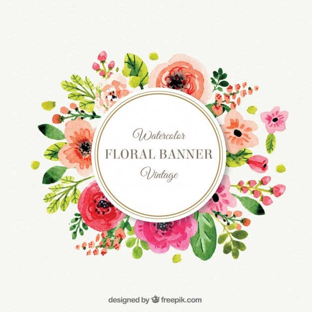 cute flowers frame in vintage style vector  free download, Natural flower