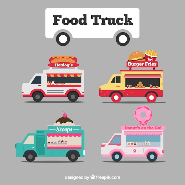 Cute food truck collection