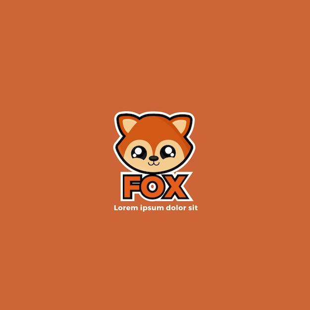 Cute foxy corporate identity logo template Premium Vector