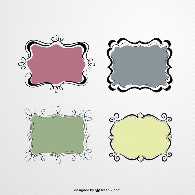 cute frames set free vector