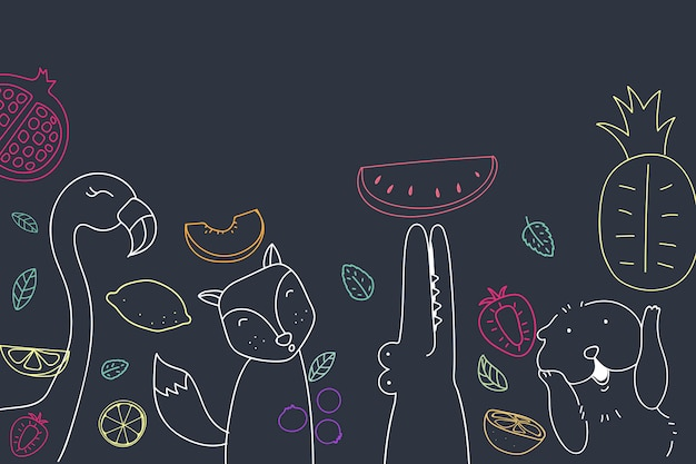 Cute fruity background Free Vector