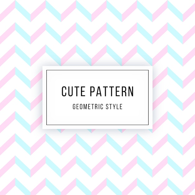 Cute geometric pattern Free Vector