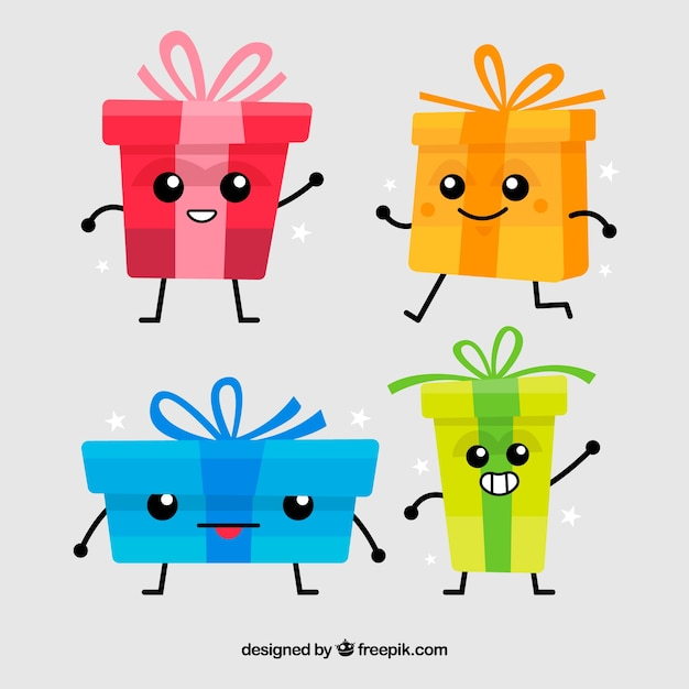 Cute gift boxes in cartoon style vector free download cute gift boxes in cartoon style free vector negle Gallery