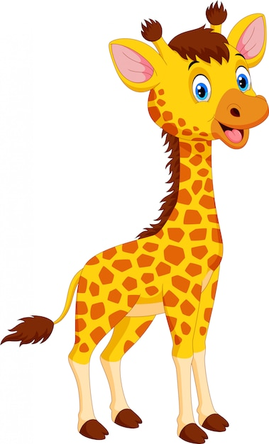 Premium Vector | Cute giraffe cartoon