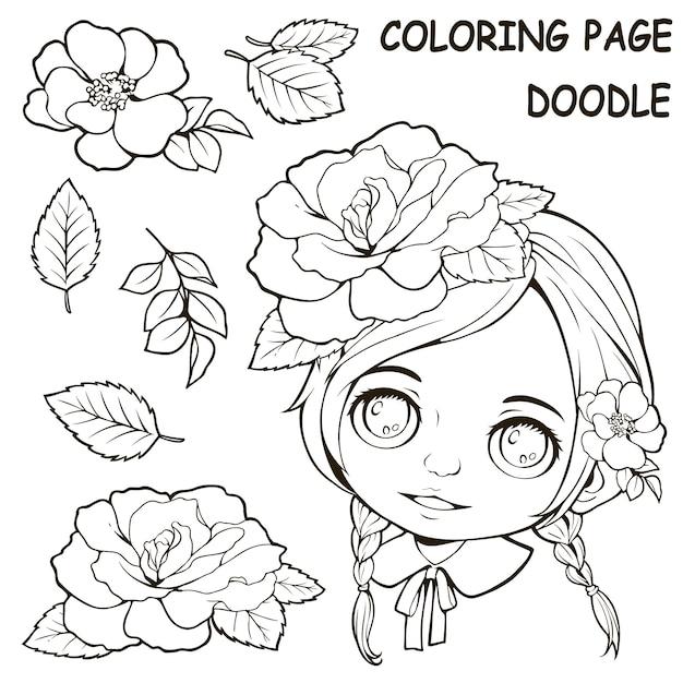 Butterflyfish Enjoying Coral Reef coloring page | Free Printable ... | 626x626