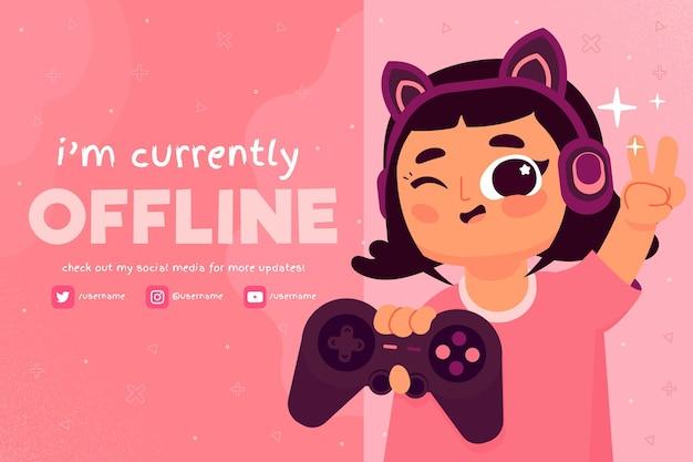 Cute girl playingoffline twitch Free Vector