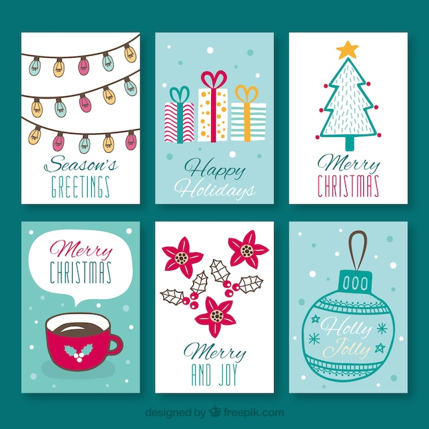 Cute greeting cards for christmas