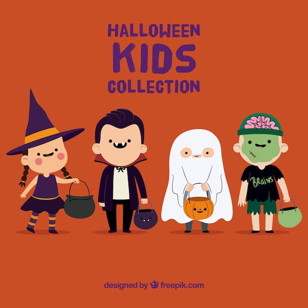 Cute halloween kids collection