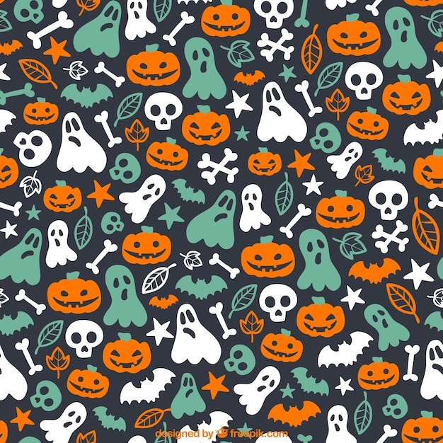 Cute halloween pattern Vector | Free Download