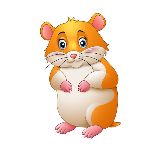 cute hamster cartoon vector premium download