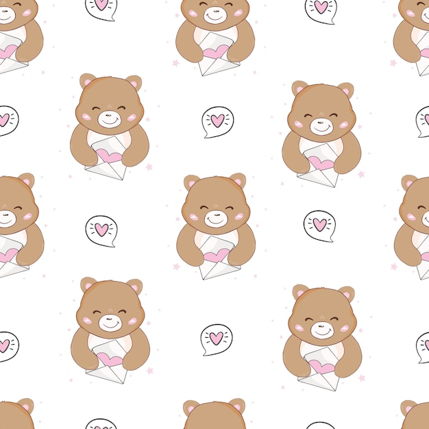 Cute hand draw seamless pattern for kids. Premium Vector