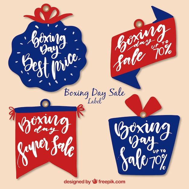 Симпатичный рисованный бокс день продажи значок Бесплатные векторы