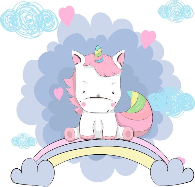 cute unicorn cartoon - 626×601