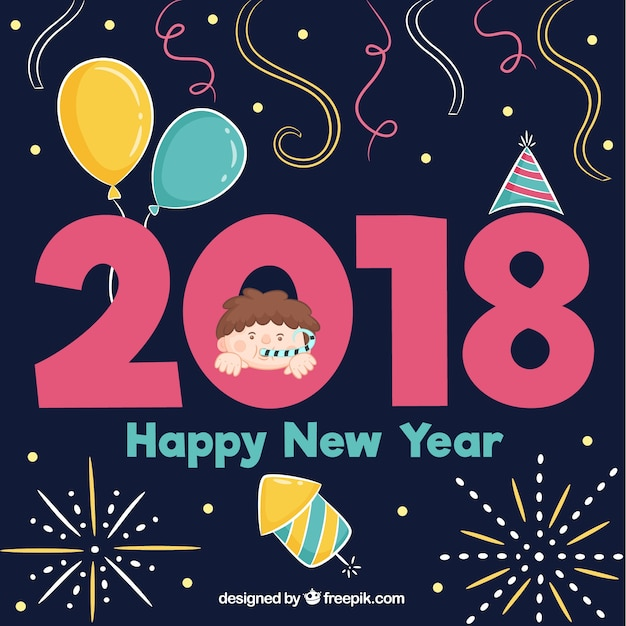 cute hand drawn happy new year 2018 stock images page everypixel
